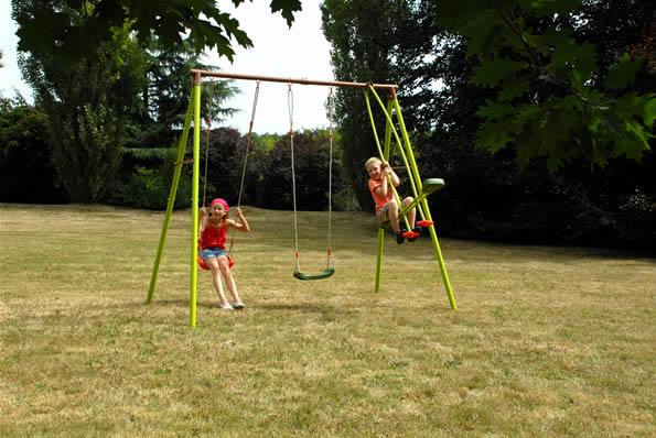 Columpios integrados a su jard n juegos al aire libre - Columpios para jardin ...
