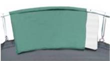 cama elástica detalle del protector de muelles