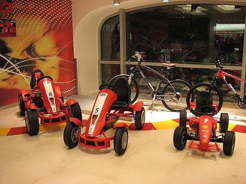 Los tres modelos de coches de pedales Ferrari de Berg Toys