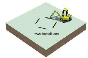 hacer un hoyo para enterrar una cama elástica