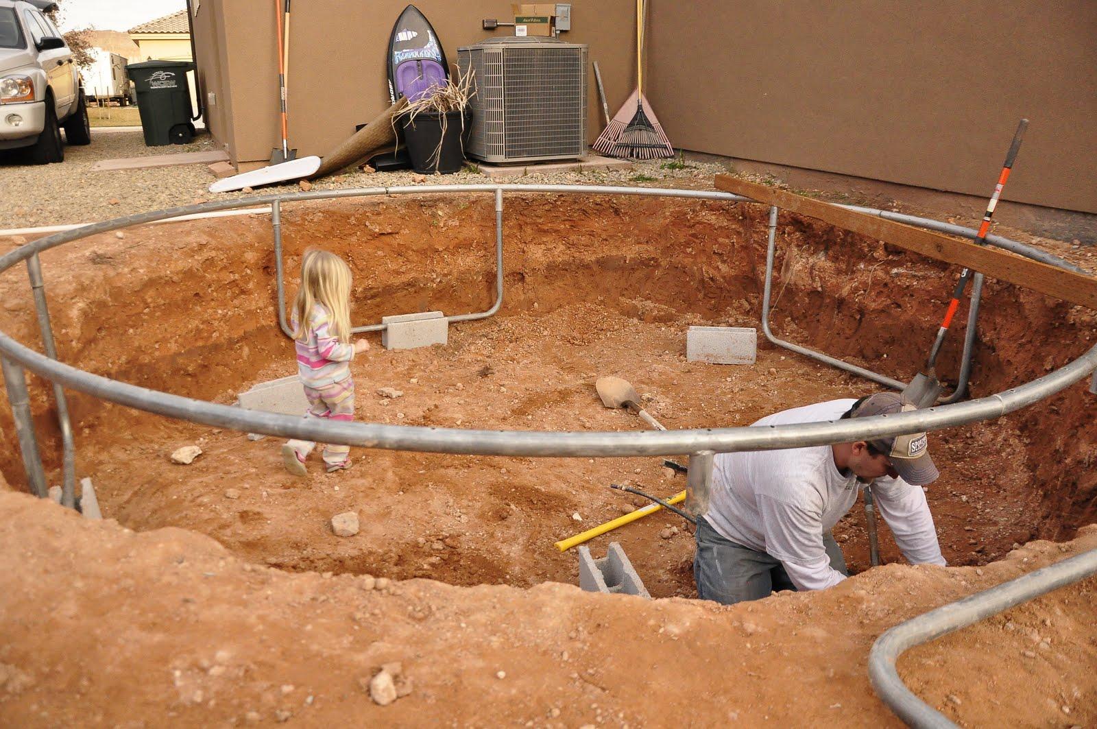 como enterrar una cama elástica