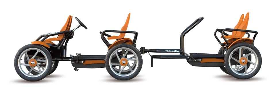 coche de pedales familiar grantour