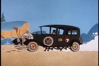 la carrera de los autos locos