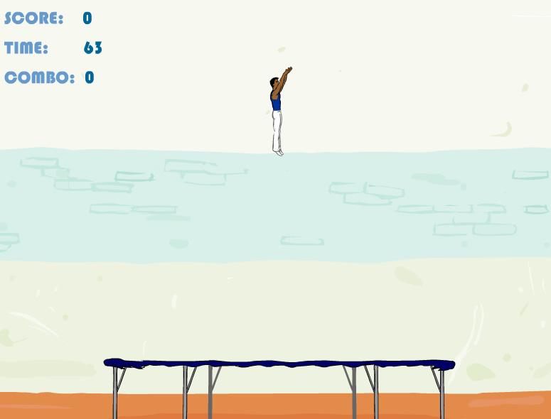 juego de saltar en una cama elástica