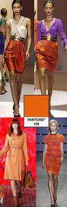naranja color de moda