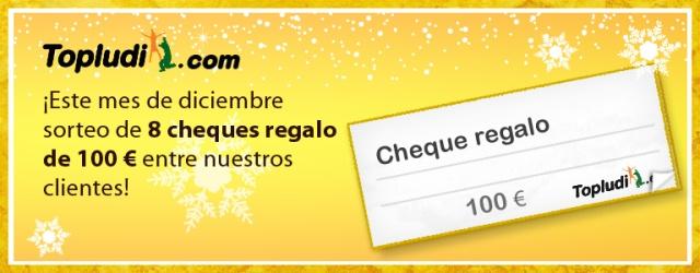 sorteo de 8 cheques de 100 Euros para nuestros clientes