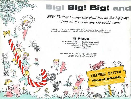 catálogo columpios americanos de los años 60
