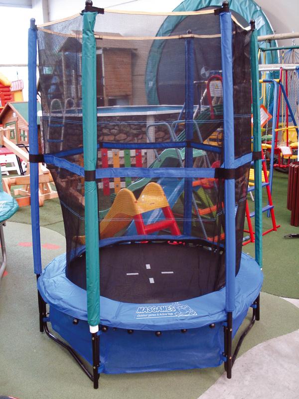 cama elástica con red de seguridad infantil masgames 140 cm