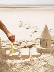 hacer un castillo en un arenero