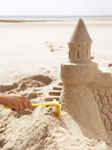 trucos para hacer castillos de arena en areneros