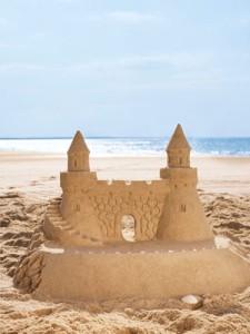 hacer un castillo de arena