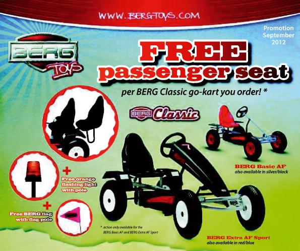 oferta karts de pedales Berg Toys septiembre 2012