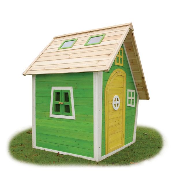 Casitas de madera infantiles de fantas a juegos al aire for Casitas de jardin infantiles