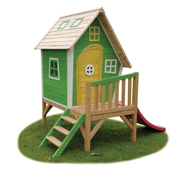Casitas de madera infantiles de fantas a juegos al aire for Casita madera jardin